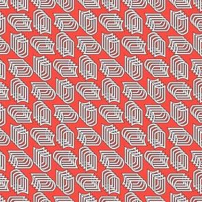 Geometric Small 1 (Cayenne)