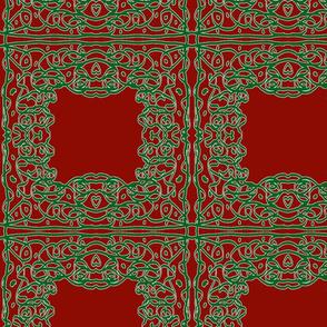 Jan's Holiday Bandana1 red green white