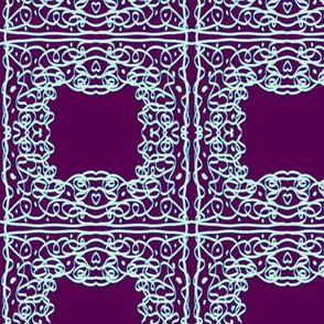 Jan's Bandanna1 tricolor purple white teal