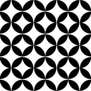 Diamond Flower Black