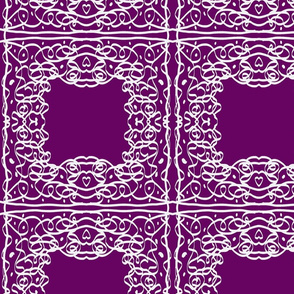 Jan's Bandanna1 purple white