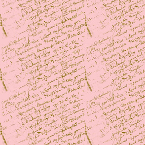 Pink French script for a shabby chic celebration