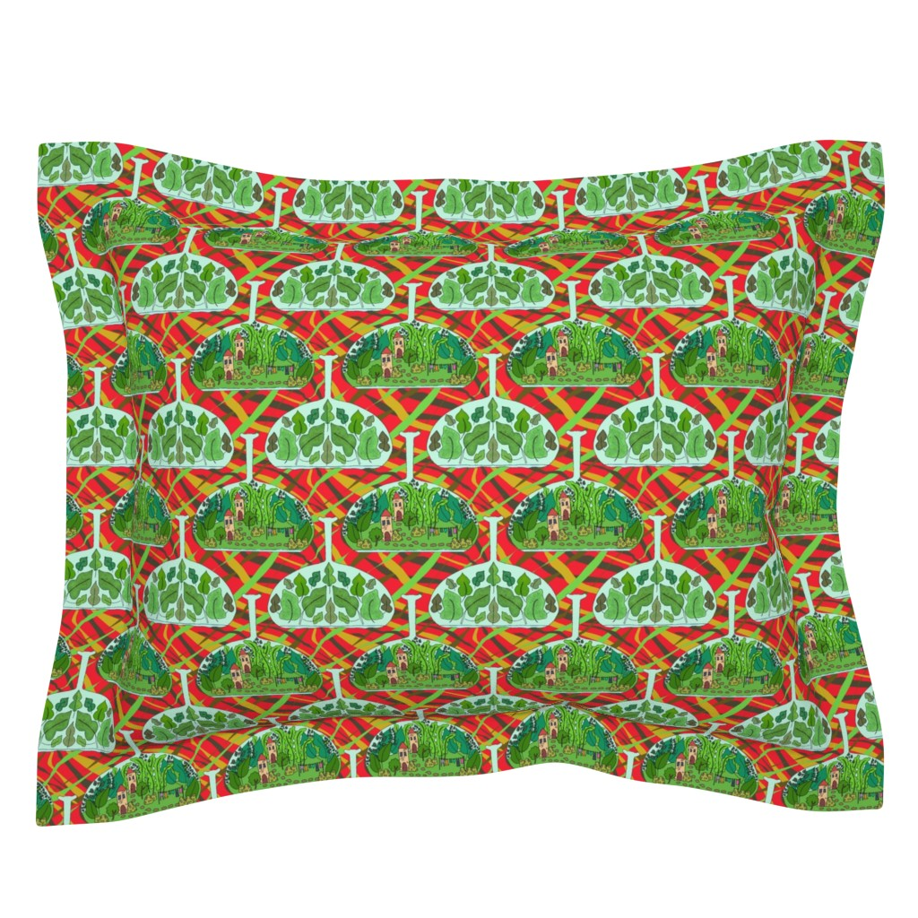 Sebright Pillow Sham featuring Terrarium by linsart