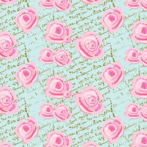 Shabby Chic Cabbage Roses large