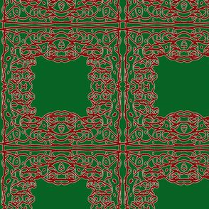 Jan's Holiday Bandana1 green red white
