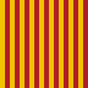 Stripes in Red and Golden Yellow
