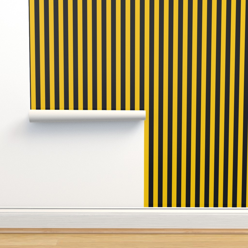 Isobar Durable Wallpaper featuring  Magic School Inspired Badger House Stripes by designedbygeeks