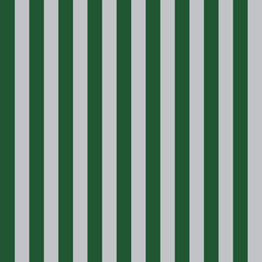 Stripes in Green and Grey