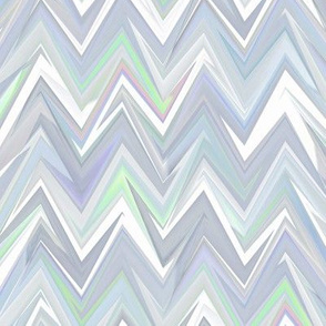 iridescent white zigzag