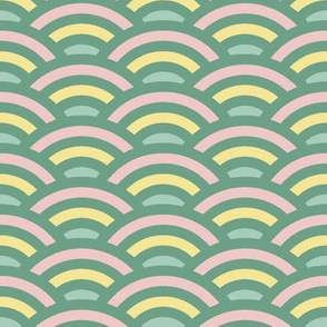 green rainbow scallop