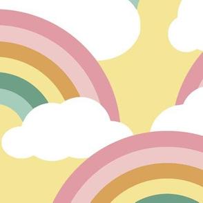 spring rainbow scallop - sunny sky