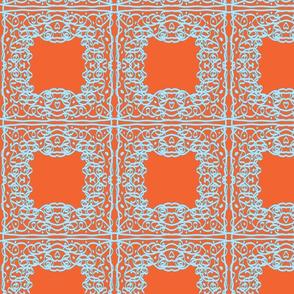 Jan's Summer Air Bandanna1 orange blue