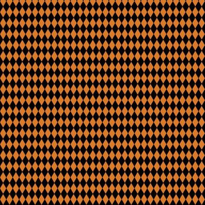 Harlequin Diamonds ~ Black And Pumpkin Spice ~ Tiny