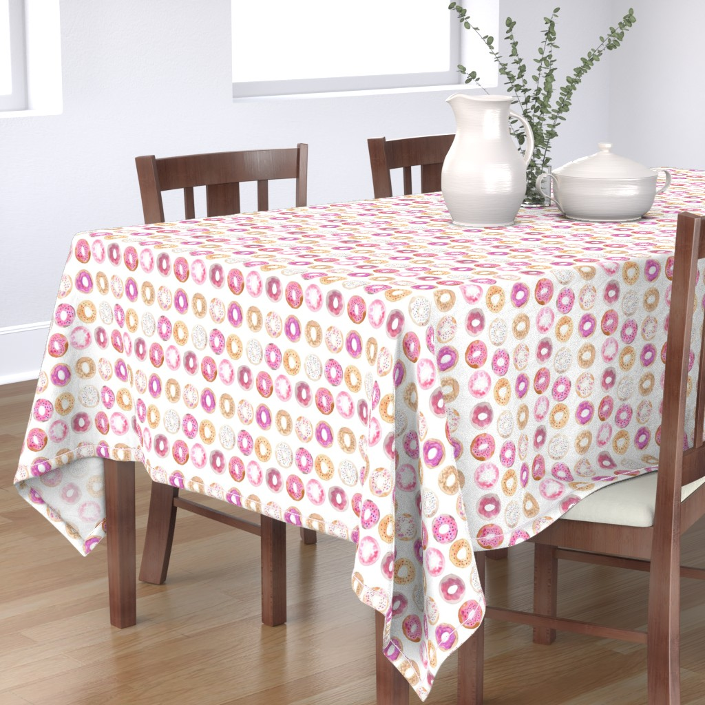 Bantam Rectangular Tablecloth featuring donuts by erinanne