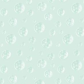 raindrops in white and pale aqua