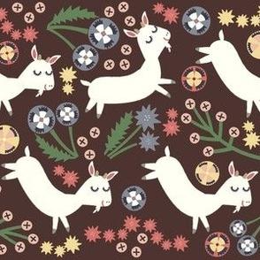 Goats Frolic (brown)