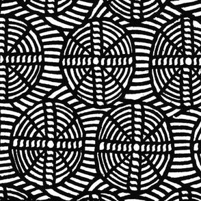 circles and crosses black & white