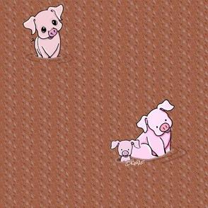 Mud Bath Pigs