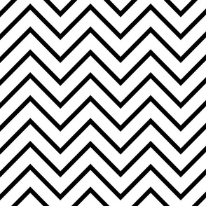 Classic Black And White Chevron