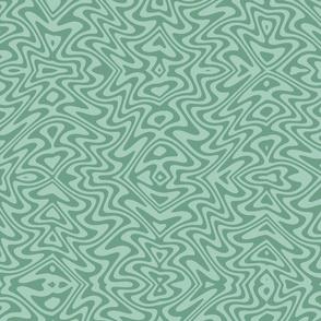 butterfly swirl in soft greens