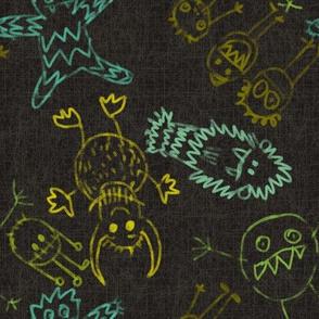 crayon monters dark