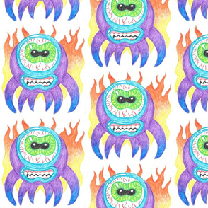 Purple Crayon Fire Monsters