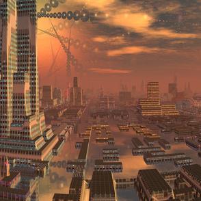 Alien City in Copper Brown 3