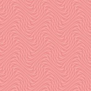 small feather swirl in sherbet pink