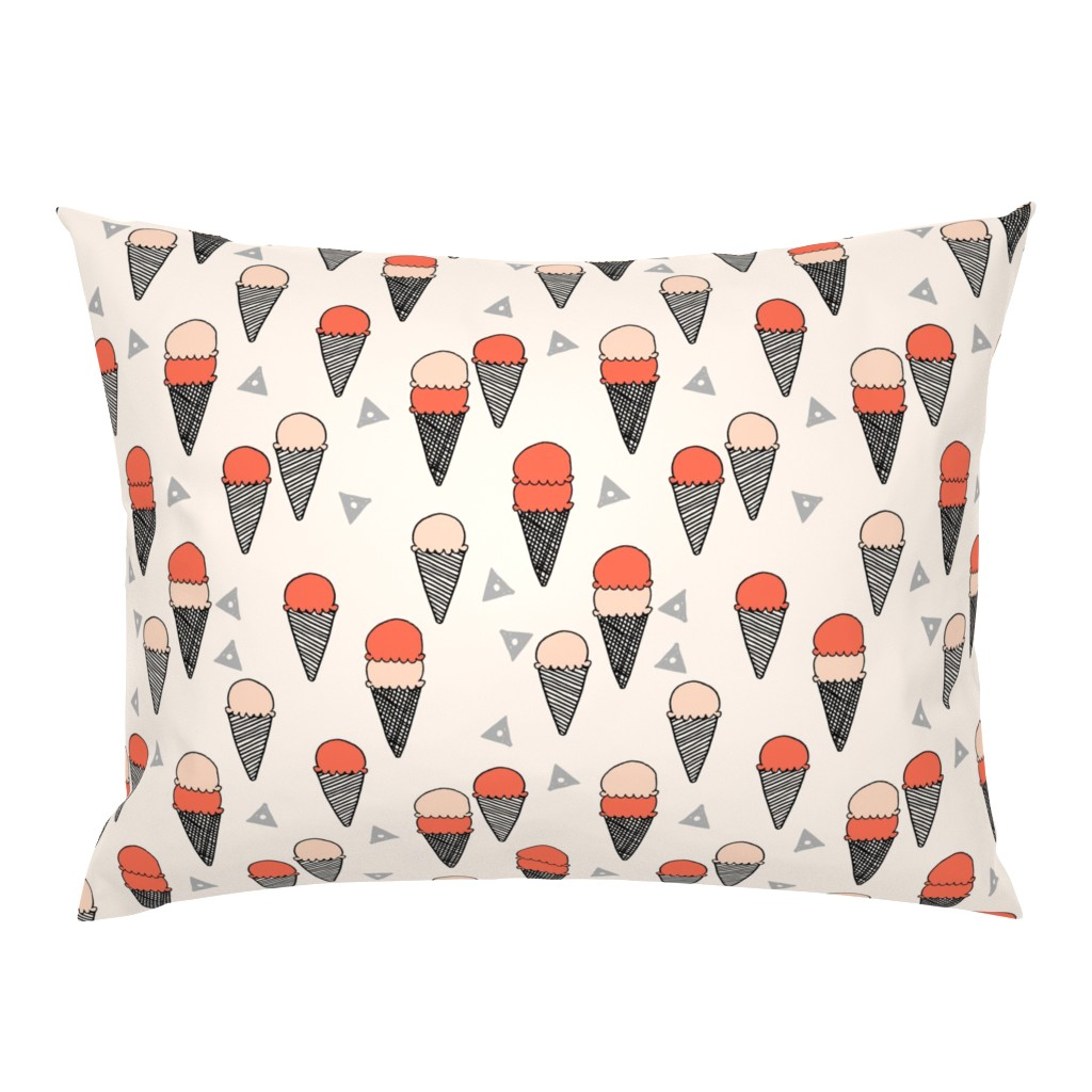 Campine Pillow Sham featuring ice cream // ice cream cone sweet summer tropical sweets fabric by andrea_lauren