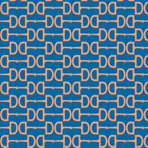 Snaffle Bits Teal Peach Small Scale