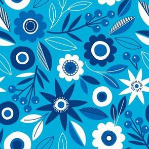 Flower Chain delft blue