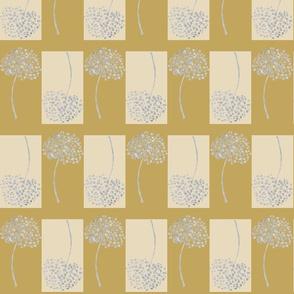 Wild Seeds,  Honesty and Mustard Block Print