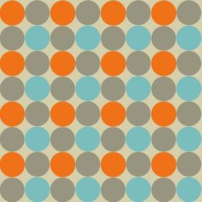 Blue and Orange Dotty (small print)