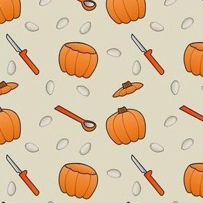 Pumpkin Carving - Beige