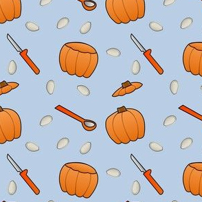 Pumpkin Carving - Blue