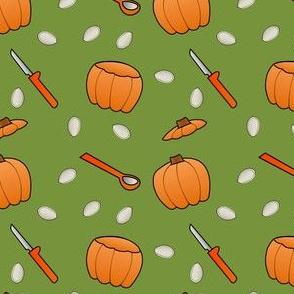 Pumpkin Carving - Green