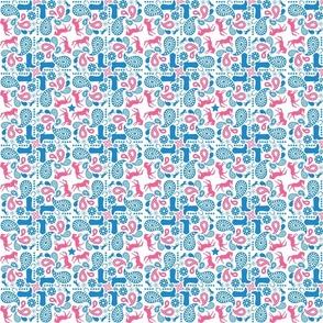 Western Paisley Teal & Pink