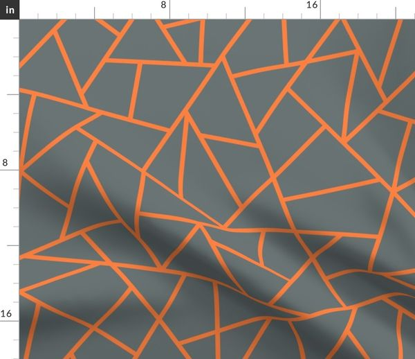 d1480773249 Abstract Geometric Tangerine on Shadow - Spoonflower