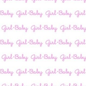 Baby Girl Stripe (White)