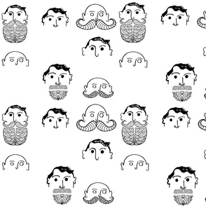 Draw your own beard and/or mustache