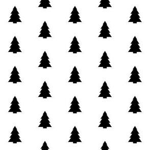 tree print black and white