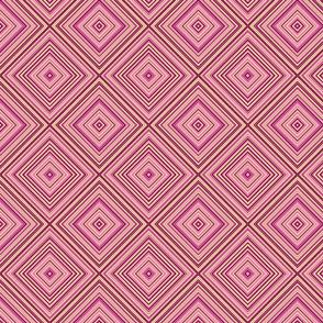 stripe diamonds-pink,yellow, burgundy