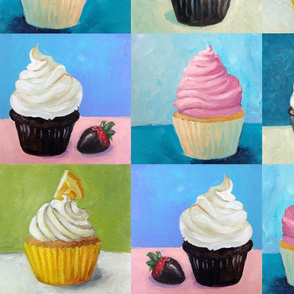 Painted Cupcakes 8""