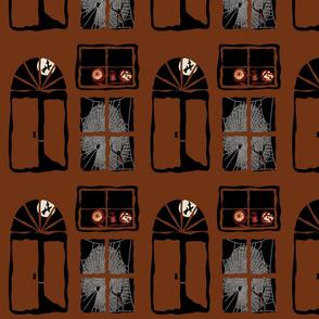 Spooky Doors and Windows - Brown