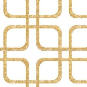 Squircle Lock ~ Golden ~ White