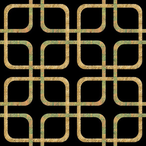 Squircle Lock ~ Golden and Verdigris ~ Blackmail
