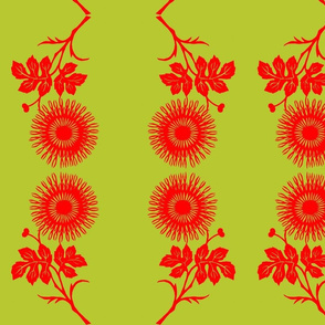Chinese cut paper design (martini olive colors)