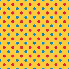 Medium dots -carnival colors