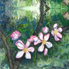 Watercolor Apple Blossoms 1