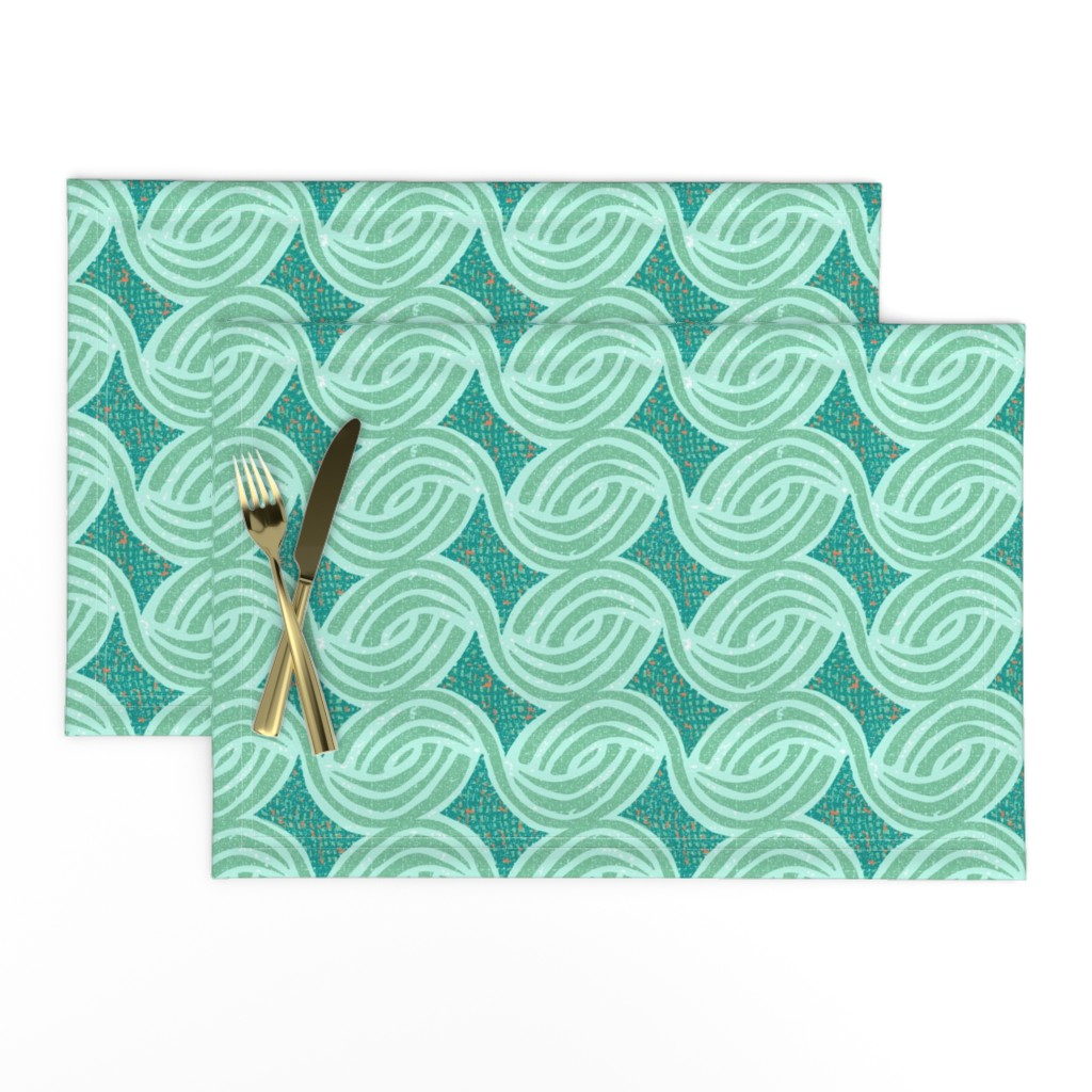 Lamona Cloth Placemats featuring flow-mint by ottomanbrim